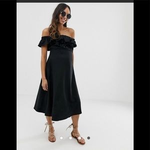 ASOS Maternity linen bardot midi dress